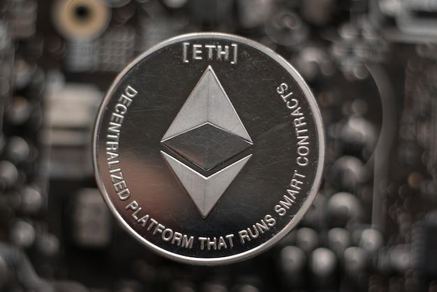 エーテル。暗号通貨エーテル。電子通貨のエーテル