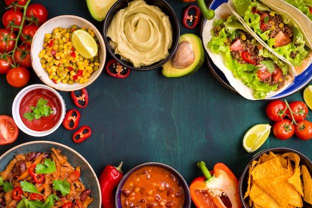 混合メキシコ料理の背景