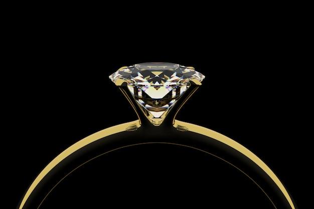 ダイヤモンド付きゴールデンリング