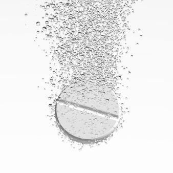 発泡錠の溶解