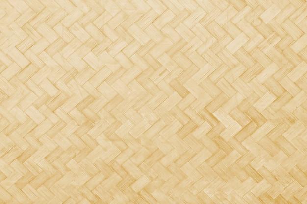 編まれた竹テクスチャ表面の抽象的な背景