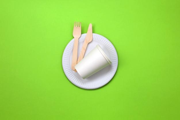 Экологичная одноразовая посуда из бамбука