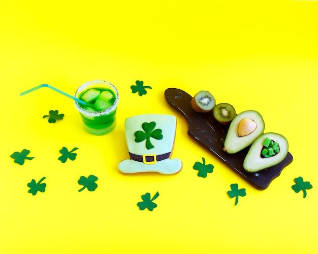 装飾クッキー。聖パトリックの日のコンセプト