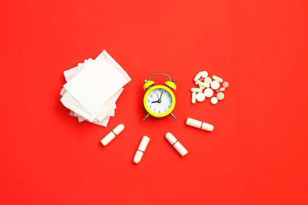 女性の健康概念の写真、毎月の女性の健康のいくつかの側面。