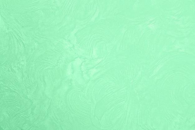 Мятный цвет штукатурка крупным планом. гипсовая стена. декор интерьера.