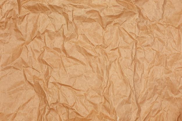 古いテクスチャ茶色の段ボールシート茶色のしわリサイクル紙の背景
