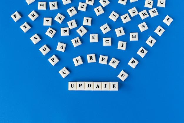 システム更新のビジネスまたは教育の概念