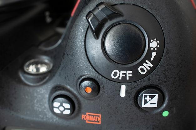 デジタル一眼レフカメラの制御がオフになっています