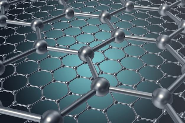 抽象的なナノテクノロジー六角形の幾何学的形態のクローズアップ