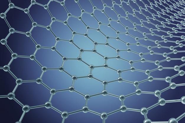 ナノテクノロジー六角形の幾何学的形状のクローズアップ