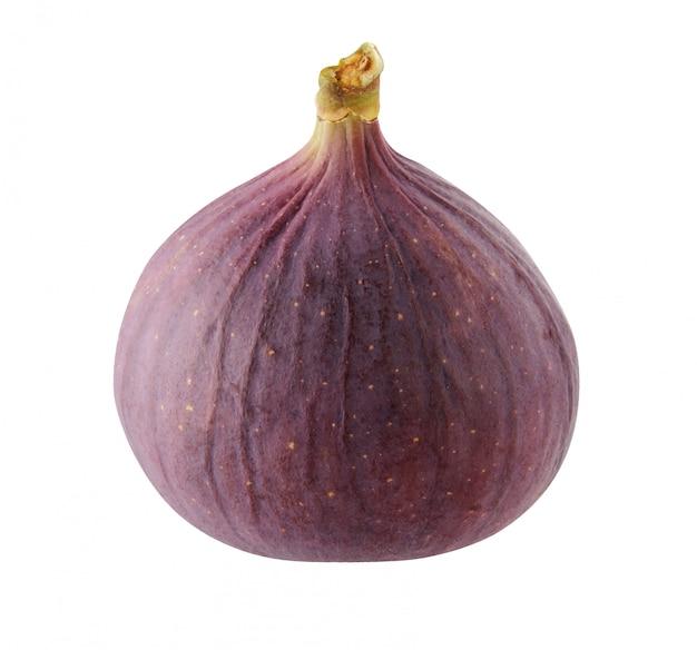 白い背景に分離された紫のイチジク。