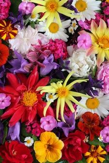 おめでとうとポストカードのための美しい垂直花の背景。