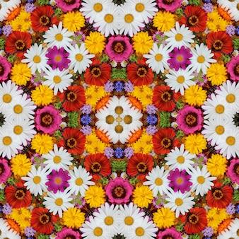 花の背景、上面図。