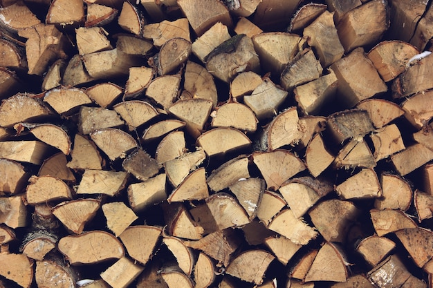 ログの終わり木製の背景。調色。スタック内の木。