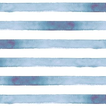 Синий полосатый фон акварелью