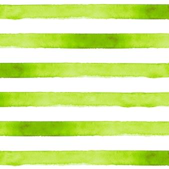 Зеленый полосатый акварельный фон