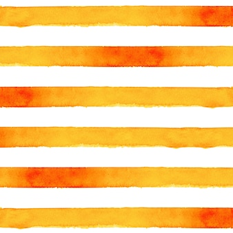 Оранжевый полосатый фон акварелью