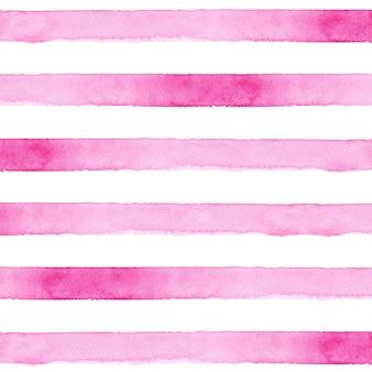 Розовый полосатый фон акварелью