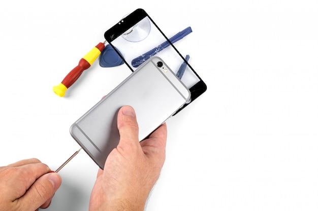 携帯電話の修理。スマートフォンとタブレットの修理
