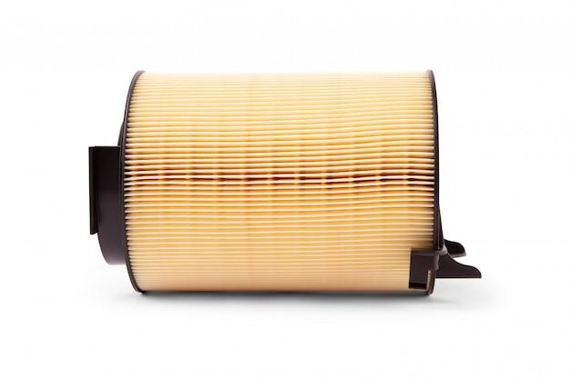 Воздушные фильтры двигателя автомобиля, изолированные на белом