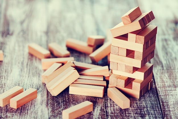 木製の背景に分離