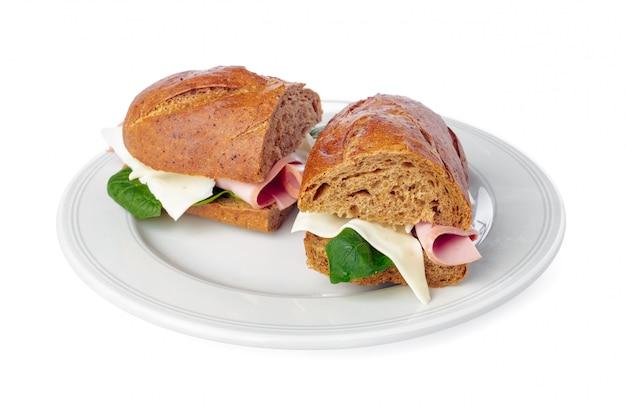 白のサンドイッチ