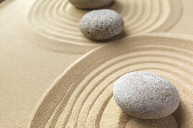 禅ガーデン瞑想の石の背景