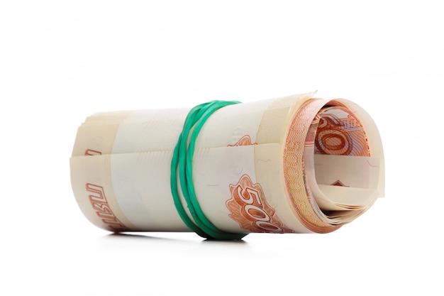 白で隔離されるお金