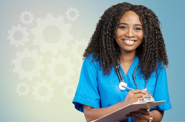 Портрет африканского доктора