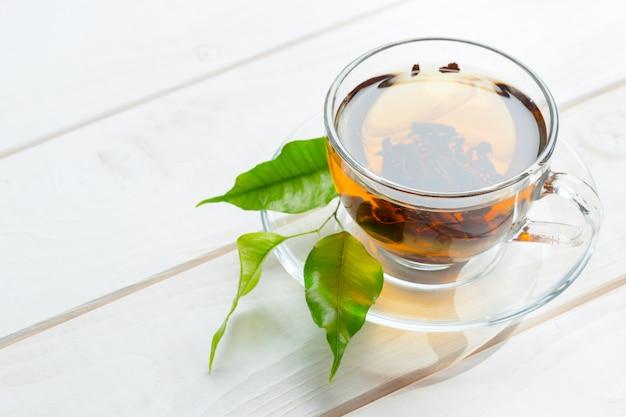 Утренний чай на столе