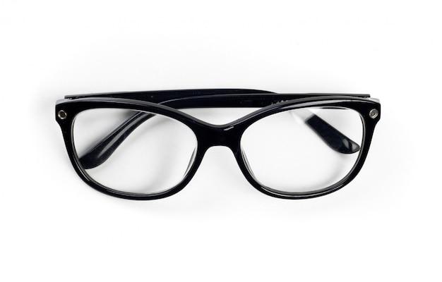 眼鏡。白で隔離