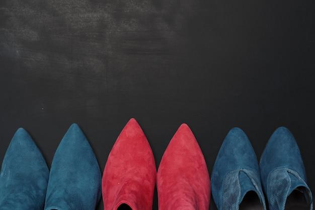 木製の女性靴