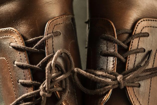 Модные классические полированные мужские коричневые оксфордские броги