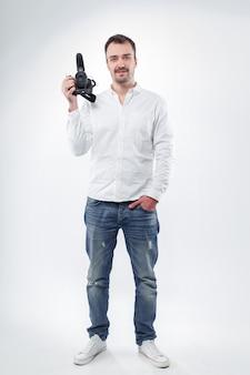 Фотограф молодого человека