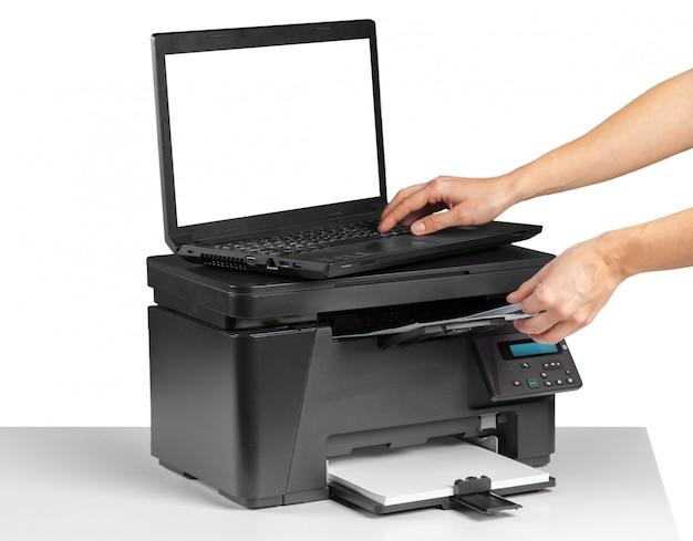 Офисный настольный принтер