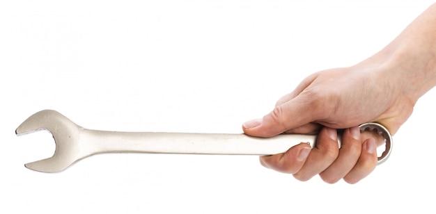 Гаечный ключ на белом