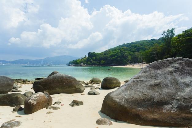 海、熱帯の楽園の背景