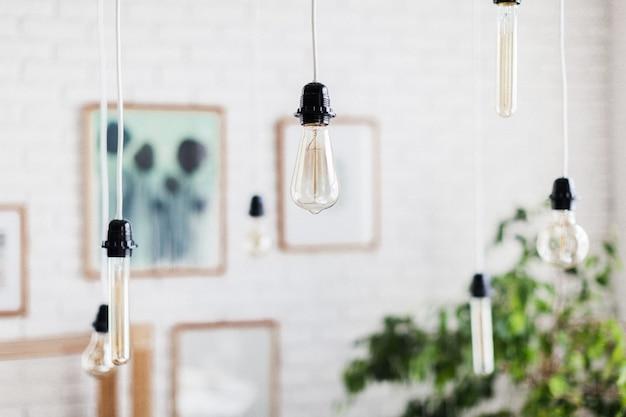 装飾的なアンティークエジソンスタイルの電球