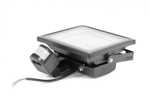 Светодиодный прожектор на белом
