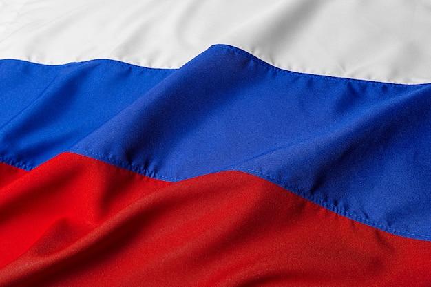 ロシアの波状旗のショットを閉じる