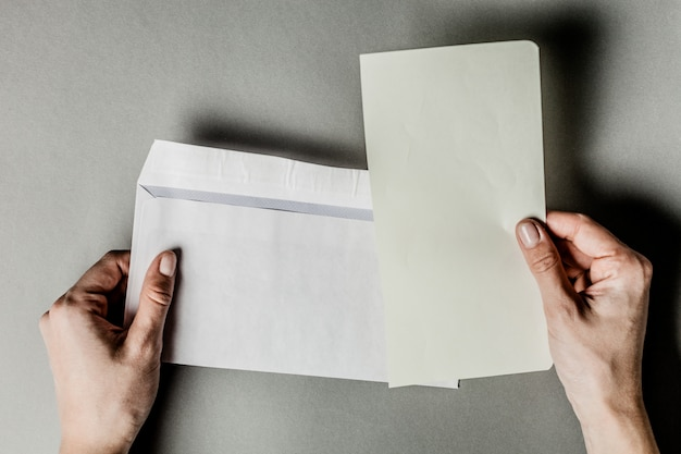 白紙の封筒