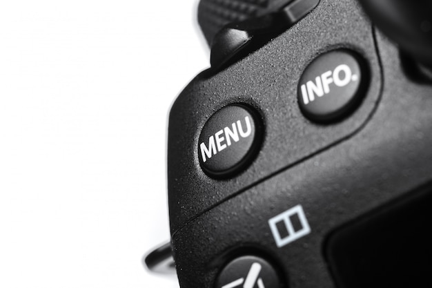 デジタルカメラのクローズアップビュー