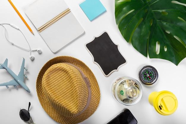 旅行、夏休み、観光、オブジェクトのコンセプト