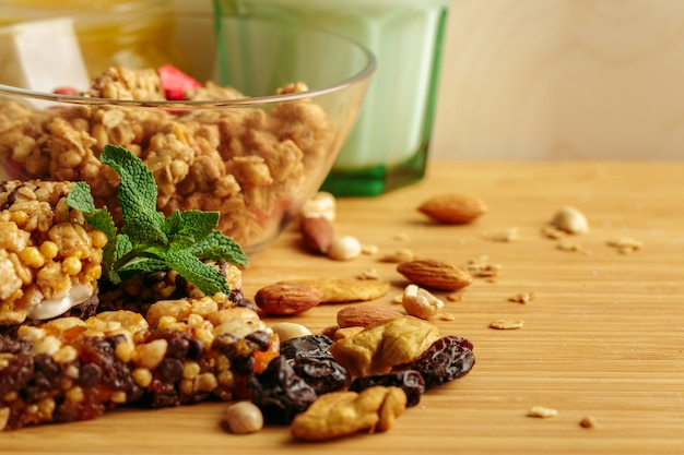 テーブルの上の健康的な朝食