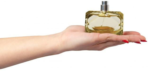 女性の手持ち株香水瓶、