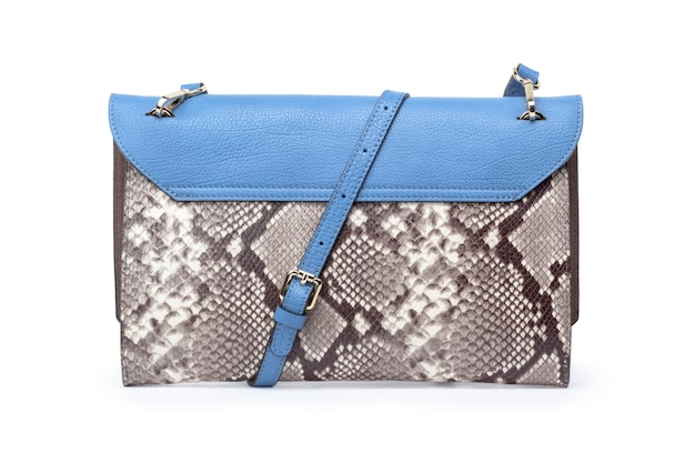 白のファッショナブルな女性のハンドバッグ