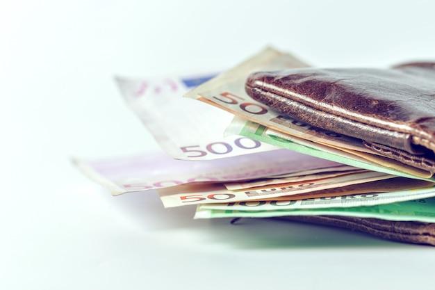 私の財布の中のユーロ