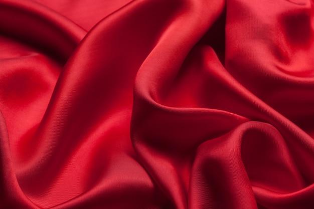 赤い布の波背景テクスチャ