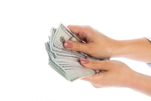 手の中にお金