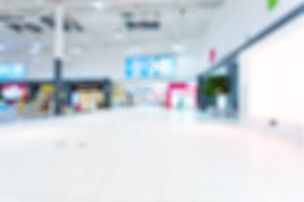 ショッピングモールの背景をぼかした写真